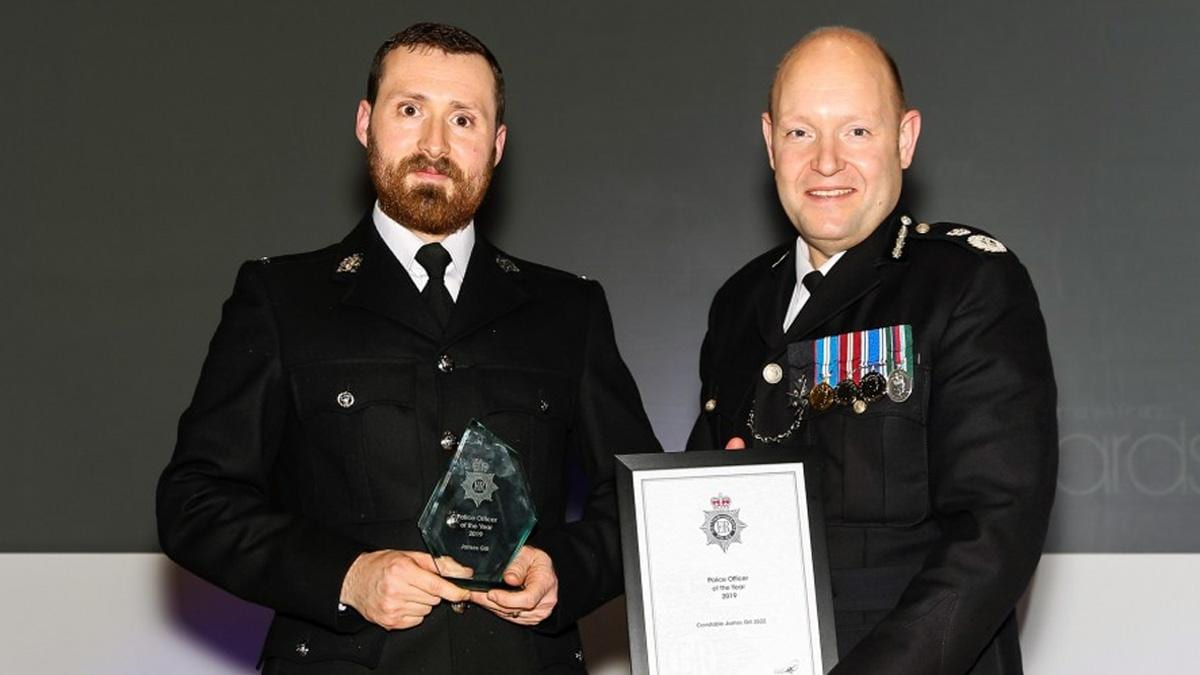 PC James Gill with award