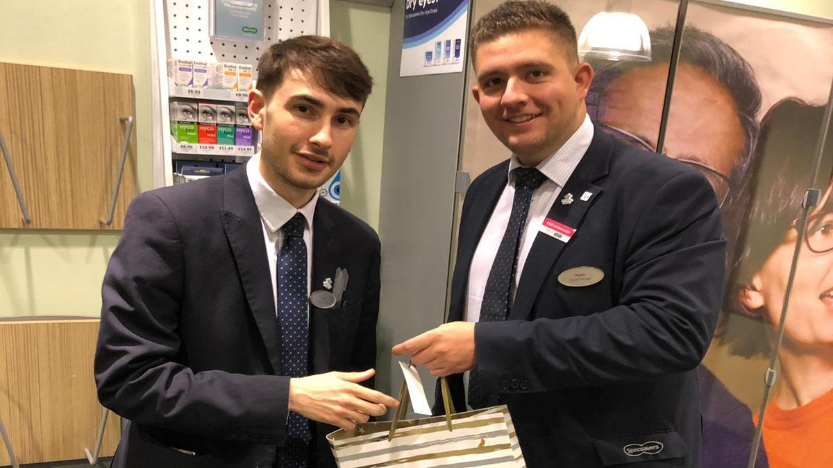 You're hired: Apprentice wows employers at Arnold opticians
