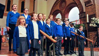 Photo of Pupils from Arnold school in fine voice at Carlton choir Christmas concert