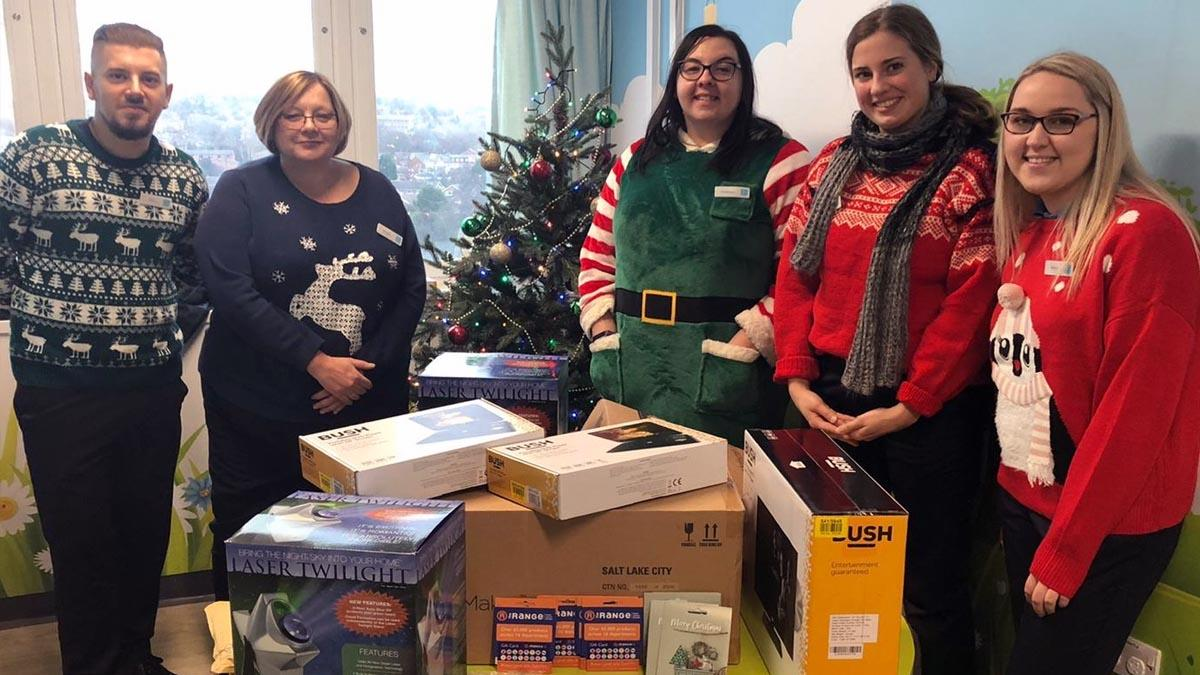 Co-op Gedling delivers £2711 of gifts to QMC children's wards for Christmas