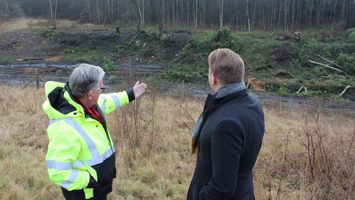 Gedling leaders look at site where new Gedling Access Road will be built