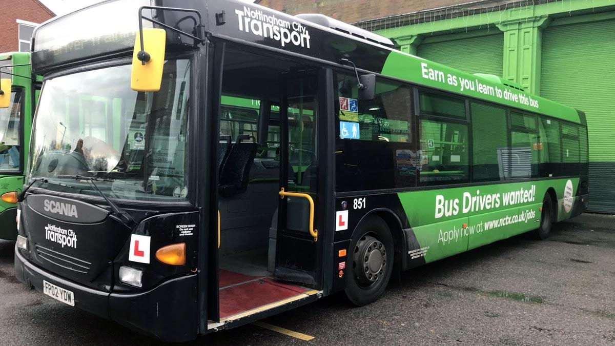 Just the ticket: Nottingham City Transport donate bus to  Arnold school which will now be revamped into learning space