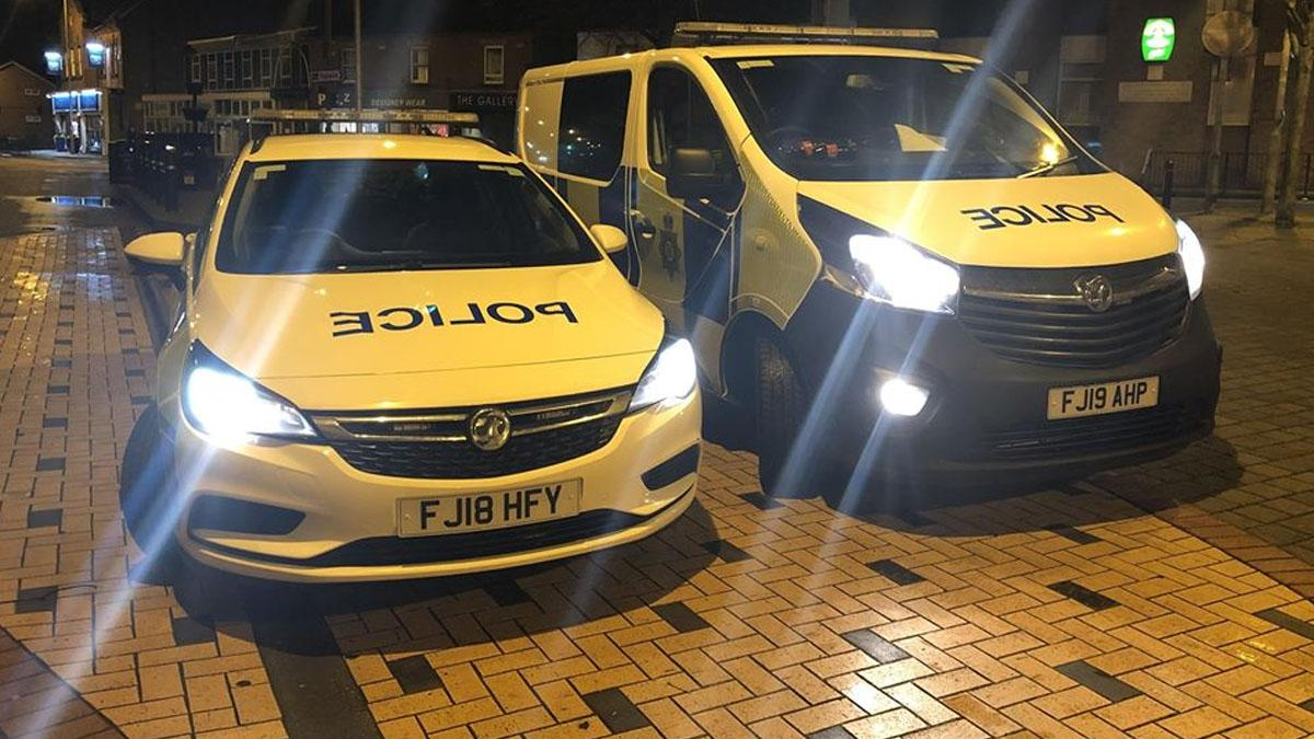 Gedling local policing team vehicles