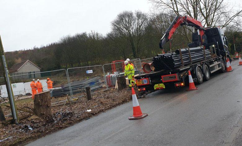 Construction on new Gedling Access Road
