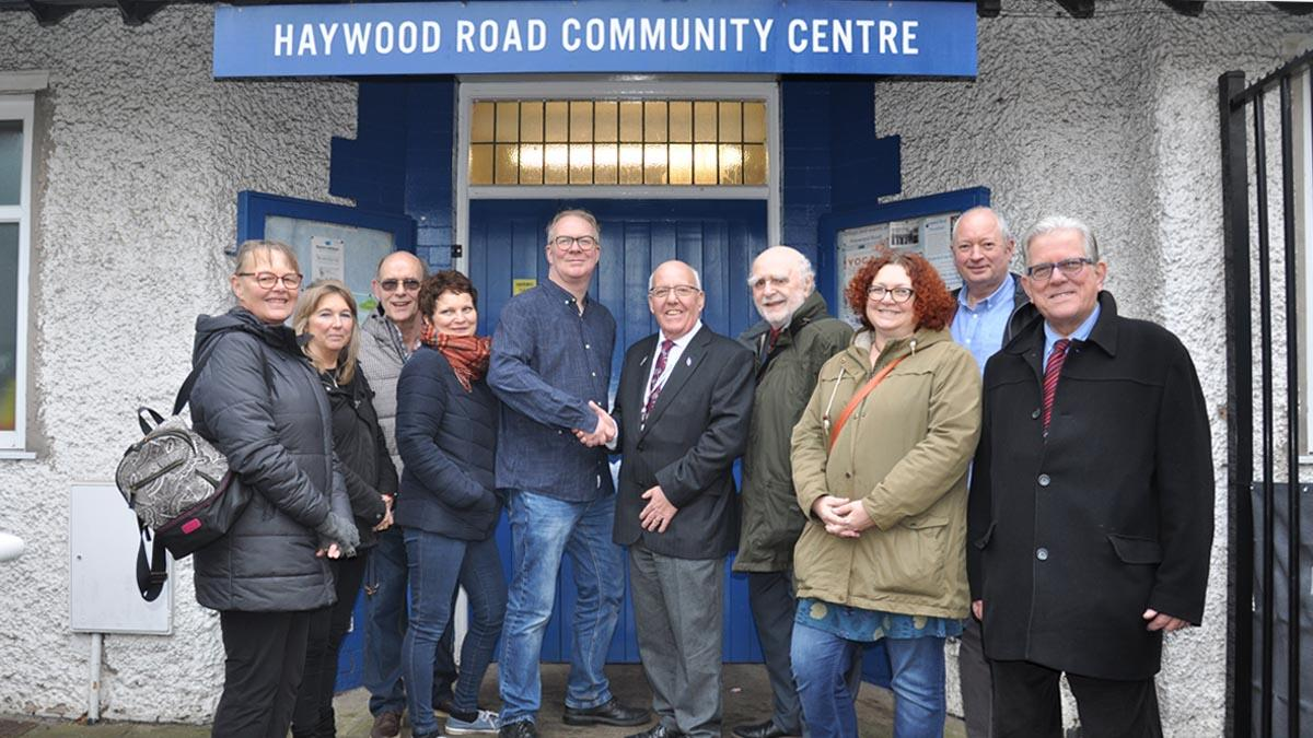 Haywood Road community centre handover