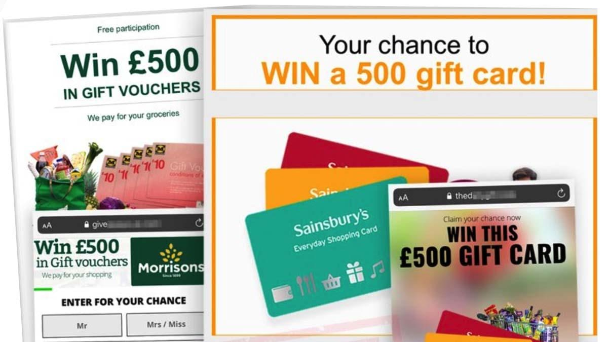 Scam warning over fake Morrisons and Sainsbury's vouchers