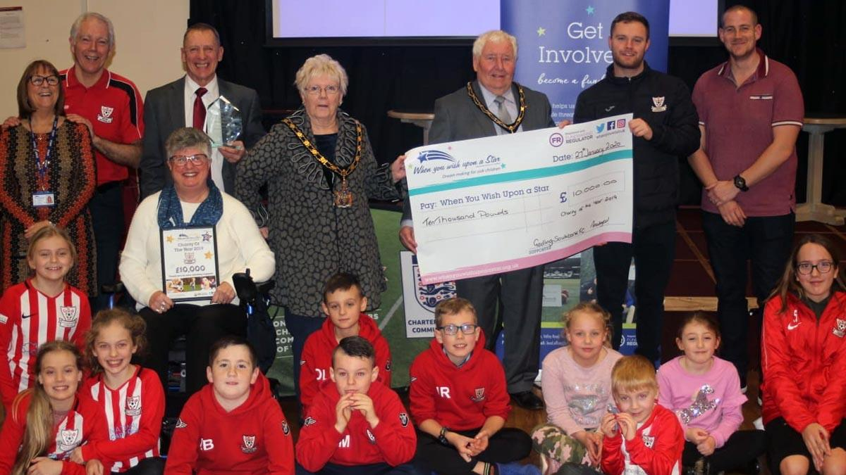 Gedling football club raises £10k for When You Wish Upon a Star charity