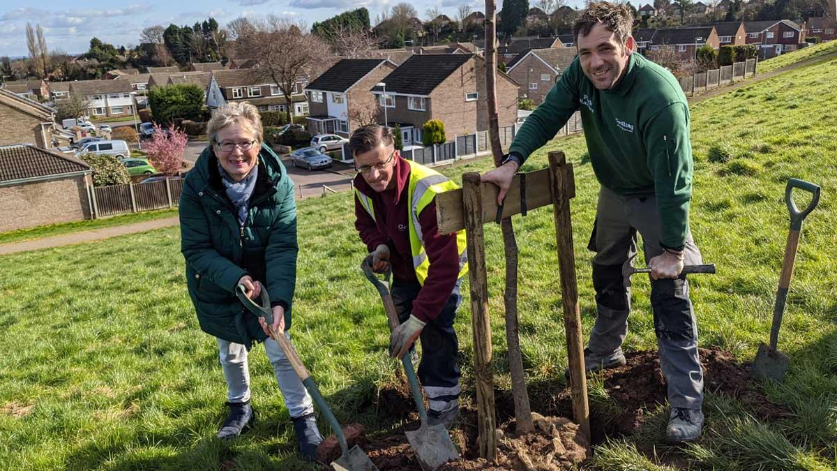 First trees planted to mark launch of community woodland project in Carlton Hill