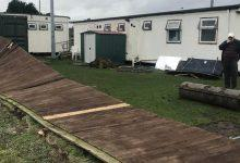 Photo of Carlton Town FC begin fundraising campaign to help repair ground damage caused by Storm Ciara