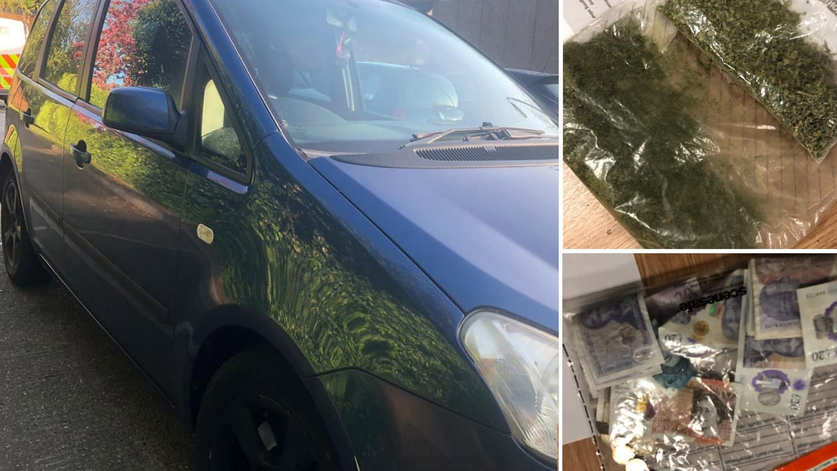 Drugs and weapon recovered during police search of vehicle in Carlton Hill