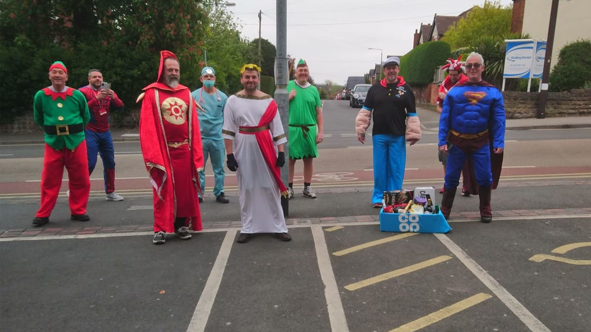 Postmen in Gedling borough deliver some cheer by wearing fancy dress