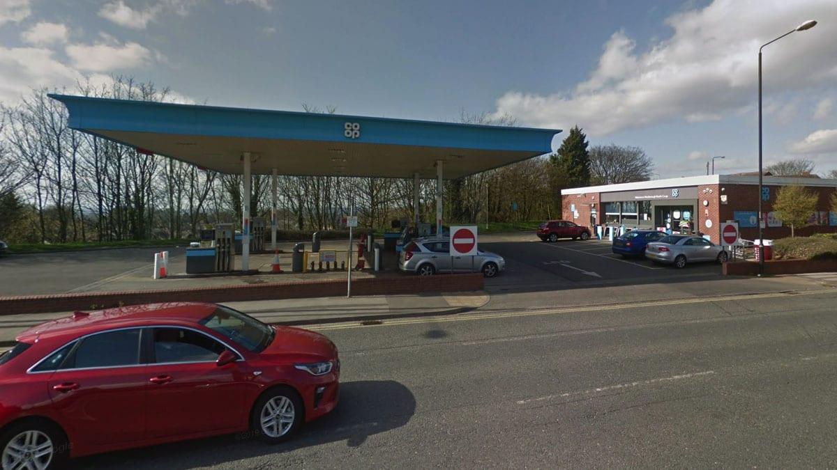 petrol station mapperley