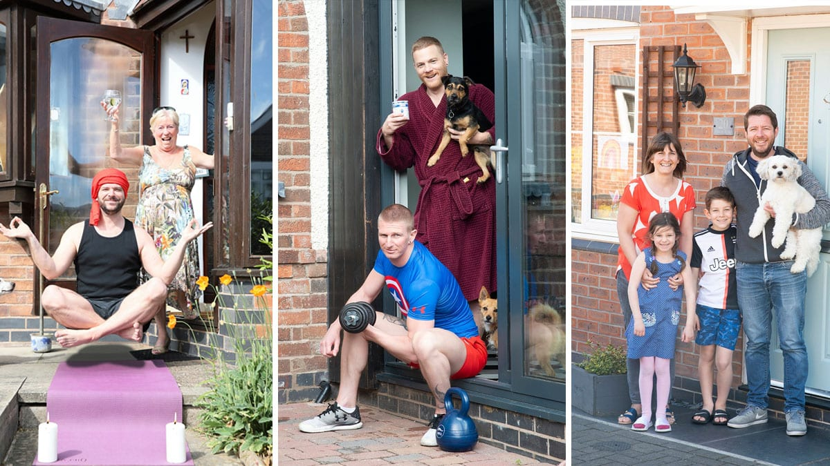 Gedling photographers capture life in lockdown across borough with doorstep portraits