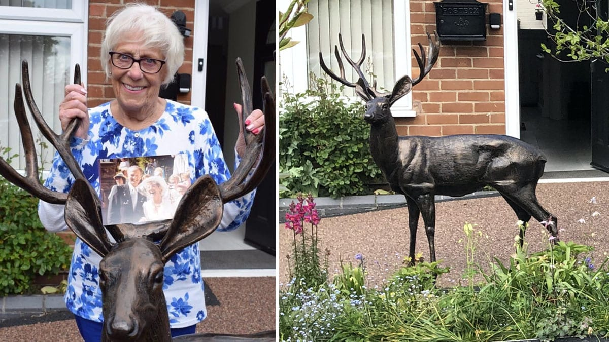 Burton Joyce residents rally round to replace statue stolen from pensioner's garden which was part of memorial to late husband