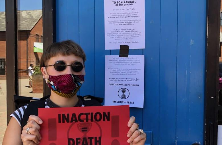 Extinction protest Gedling