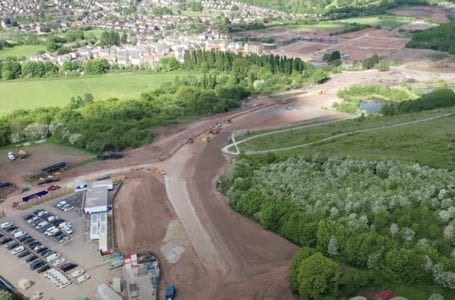 PICTURED: Gedling Access Road from above