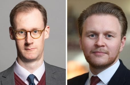 PICTURED: Gedling MP Tom Randall, left, and Gedling councillor Michael Payne