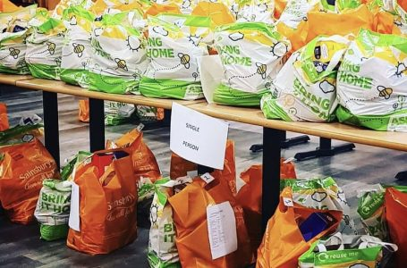 PICTURED: Food waiting to be delivered to vulnerable people across Gedling borough (IMAGE: Nicola Murphy)