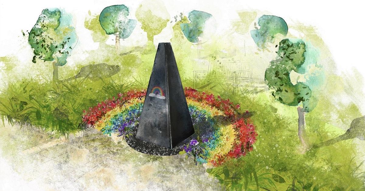Memorial garden design at Gedling Crematorium