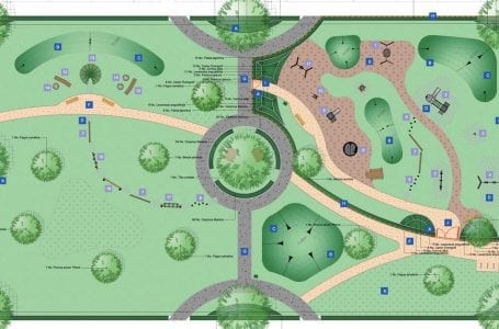 A design plan for the new 'urban square' at Chase Farm