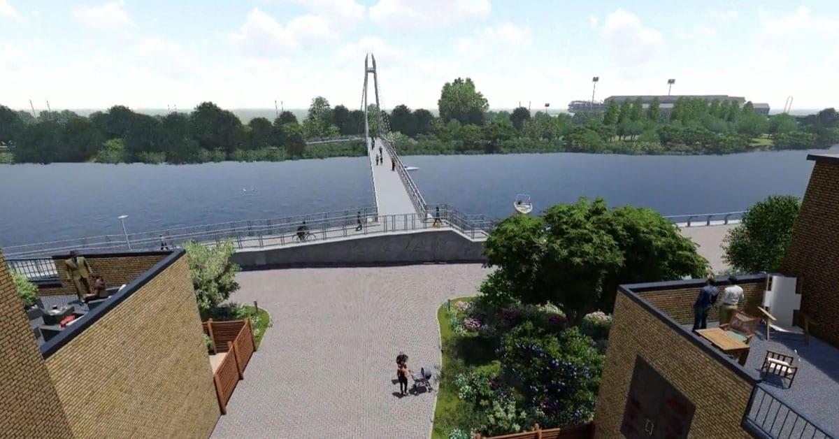 River Trent footbridge