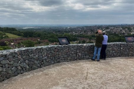 PICTURED: Viewing platform at Gedling Country Park