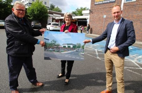 PICTURED: (l to r) Leader of Gedling Borough Council, Cllr John Clarke; Portfolio Holder for Growth and Regeneration, Cllr Jenny Hollingsworth and Architect, Will Bates.