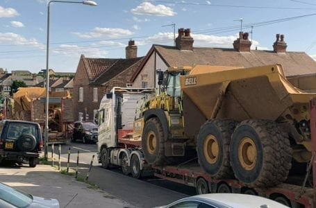 Anger after huge construction vehicles were spotted using narrow village roads to leave Gedling Access Road development