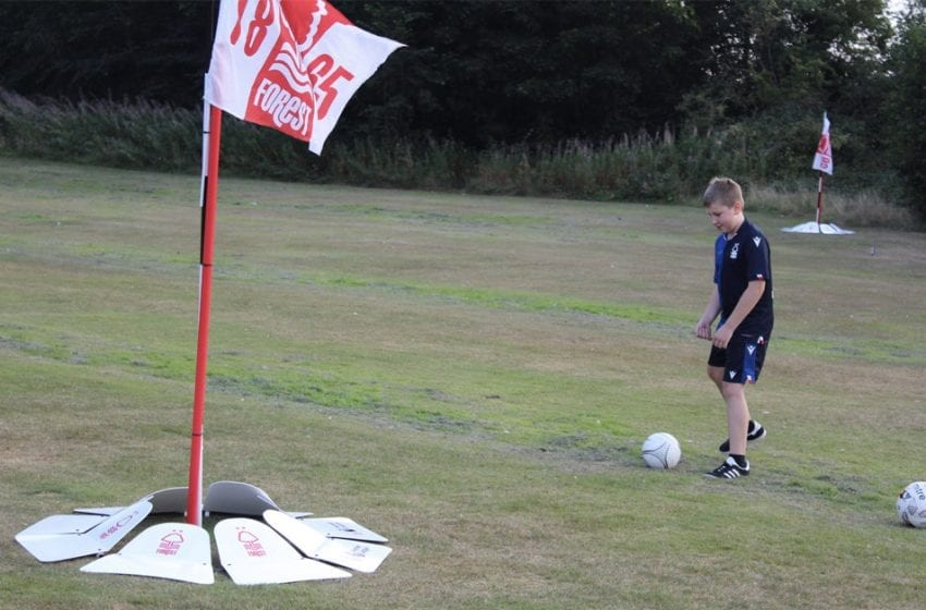 Gedling Borough Council teams up with Nottingham Forest FC to launch soccer events for young people
