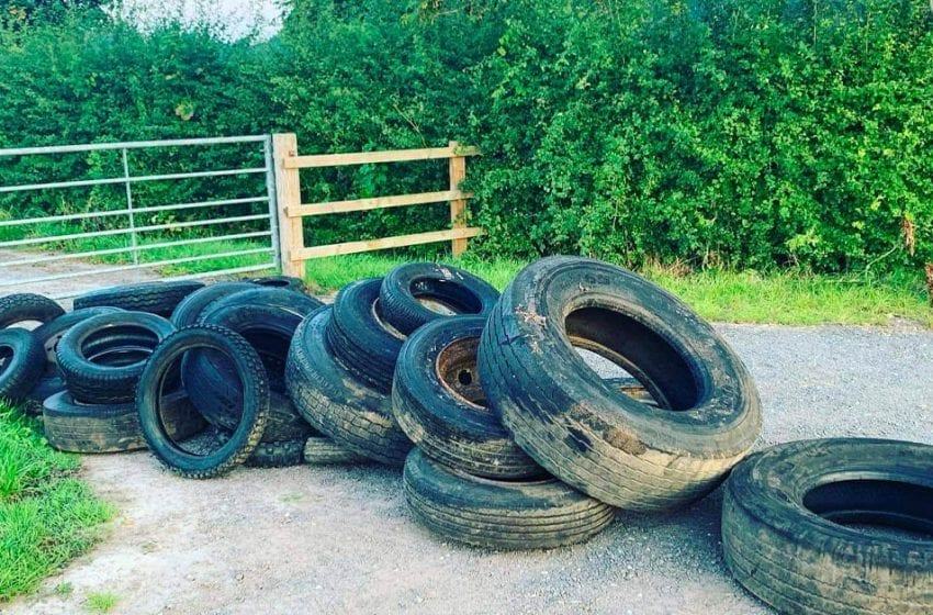 Anger after more than 20 tyres are dumped outside Timmermans Garden Centre in Woodborough