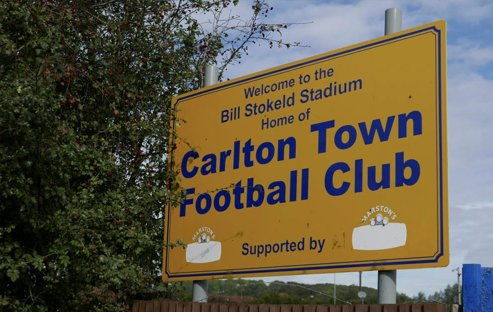 Carlton Town sign