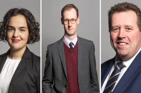 PICTURED: (L to r) MPs Nadia Whiitome, Tom Randall and Mark Spencer