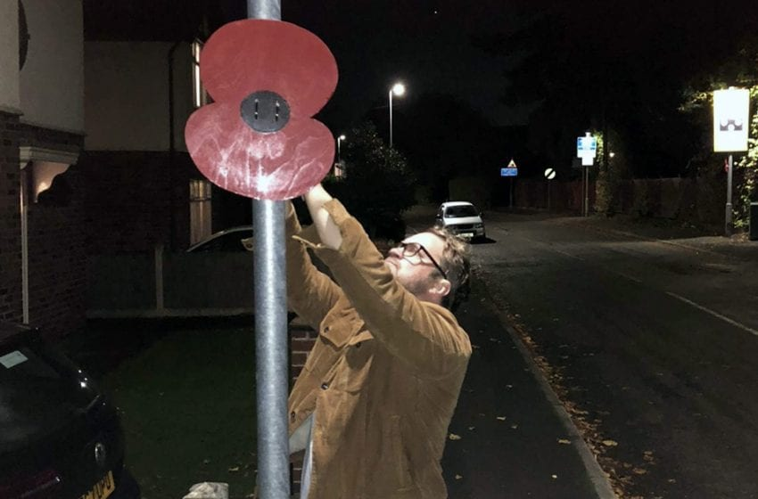 Giant poppies appear in Burton Joyce, Gedling and Stoke Bardolph as borough prepares to remember