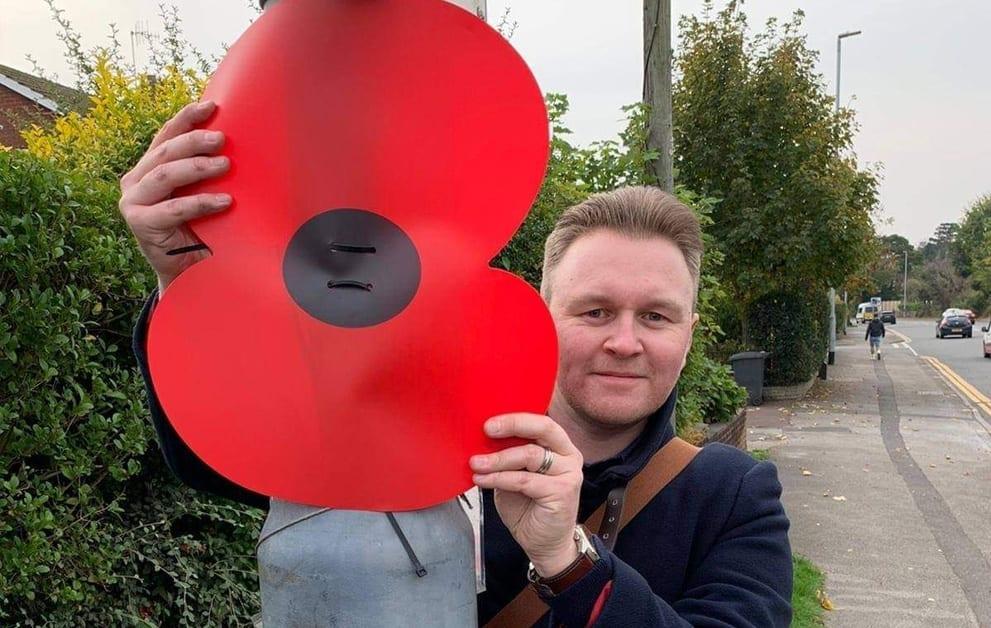 Michael Payne with poppy