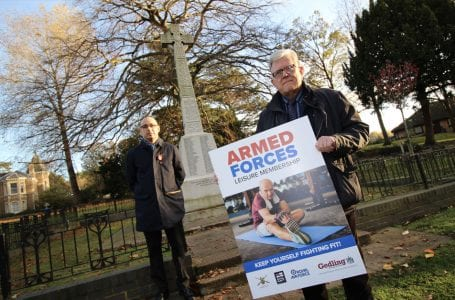 Gedling Borough Council launches free gym membership for armed forces on Armistice Day