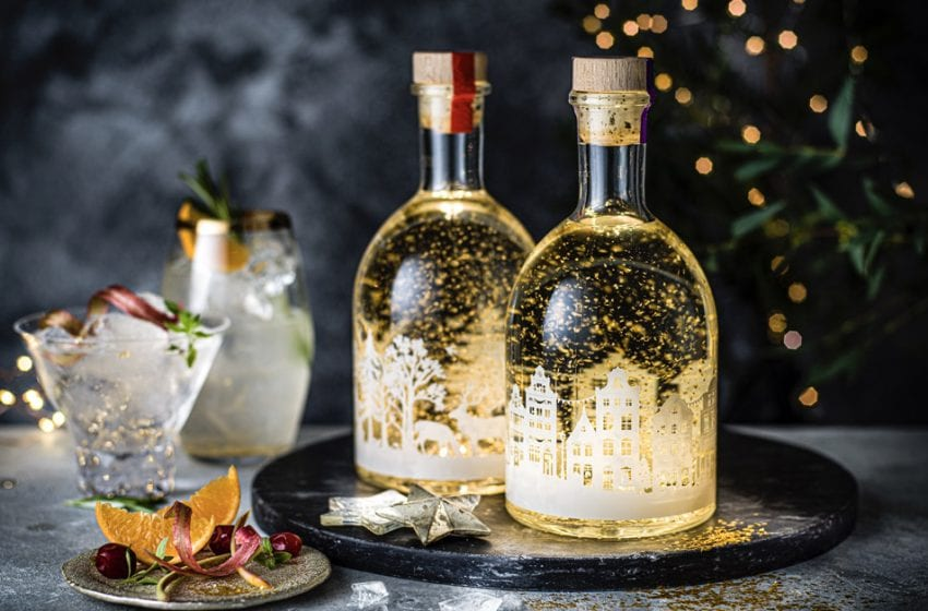 Let there be lights: Colwick firm develops light-up labels for stunning snow globe gin bottles being sold this Christmas by M&S