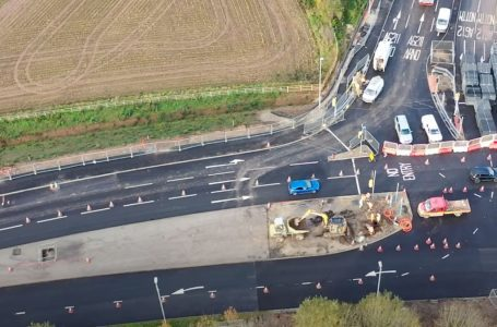 Drone footage reveals progress on Gedling Access Road as work on £40m bypass continues