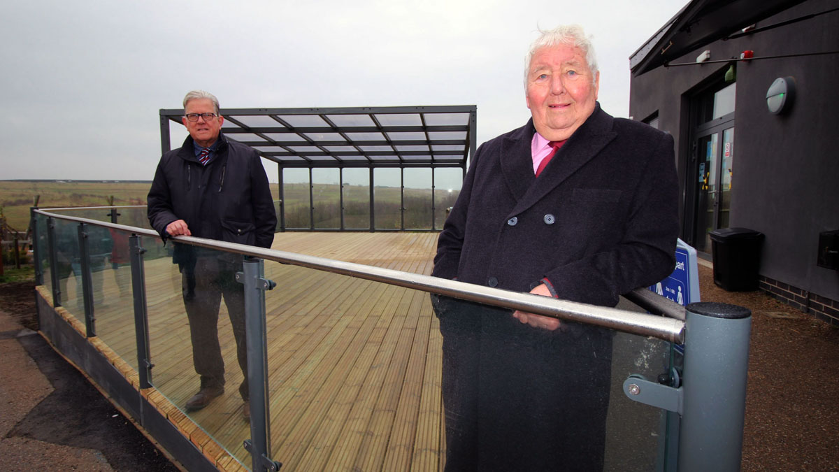 Gedling Country Park new seating area