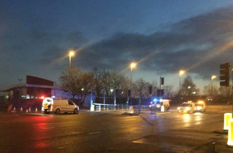 Man taken to hospital with serious injuries following collision at Victoria Retail Park in Netherfield