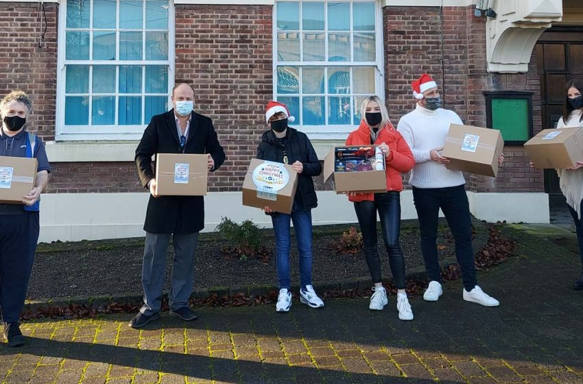 Colwick firm rallies around those in need by delivering more than 300 Christmas hampers