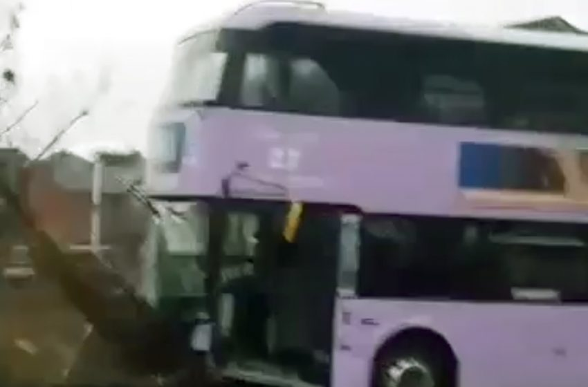 Delays to services after bus crashes into wall in Carlton