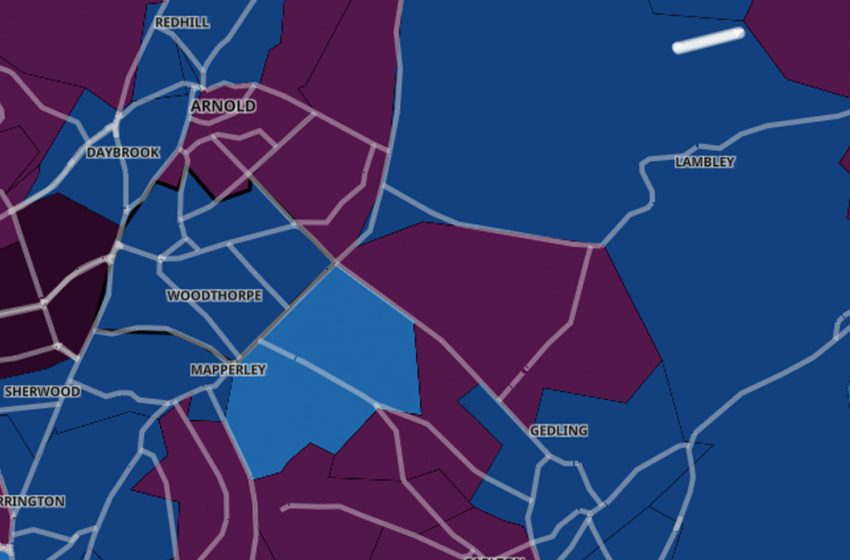 The neighbourhoods across Gedling borough where Covid-19 rates are highest and lowest