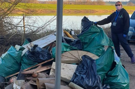 Bowling ball and bathroom sink amongst bizarre items found on community riverside litter pick