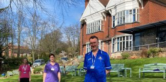 Staff at Nottinghamhsire Hospice