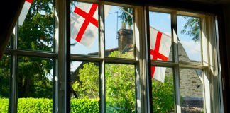 St George's Day flags