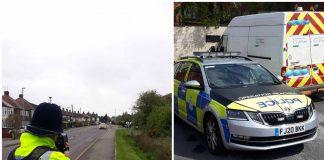 Police speed checks Carlton Linby