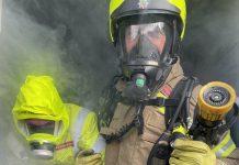 Carlton firefighters smoke hoods