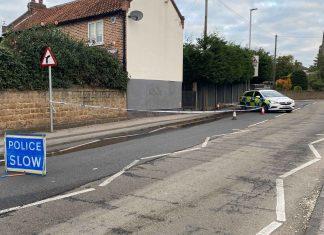Police cordon Gedling